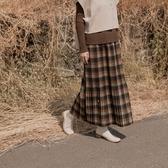 Queen Shop【03020767】經典配色格紋百摺裙 兩色售 *現+預*