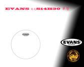 """【小麥老師樂器館】EVANS 鼓皮 S14H30 單層 14"""" 3mil"""
