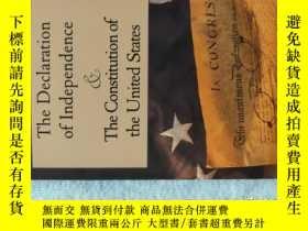 二手書博民逛書店獨立宣言與美國憲法罕見英文原版 The Declaration of Independence & The Con
