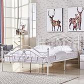 床架 歐式時尚簡約鐵藝公主雙人床公寓出租房單人鐵床架1.5鐵架床1.8米igo 傾城小鋪