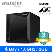 【ASUSTOR 華芸】AS4004T 4Bay NAS 網路儲存伺服器(不含硬碟)