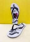 【震撼精品百貨】Hello Kitty 凱蒂貓~台灣製Hello kitty正版成人45周年限定款夾腳拖鞋-白色#19122