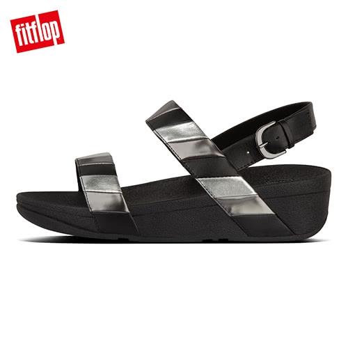 新降7折【FitFlop】 BACK-STRAP SANDALS 多彩金屬光後帶涼鞋-女(黑色)