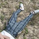 FINDSENSE品牌 時尚潮流 男 條紋 格子 休閒褲 九分褲 小西褲 4 色