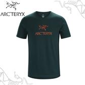 【ARC TERYX 始祖鳥 男 Arc word T-shirt 休閒Tee《迷惑藍》】24013/短袖T恤/運動衫/透氣