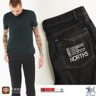 【NST Jeans】撞色車線 白車線休閒黑褲 遠紅外線奈米纖維-中腰直筒 398(66662) 台灣製