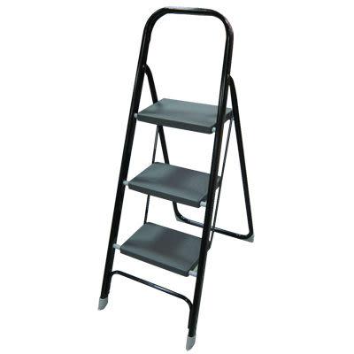 【奇奇文具】【樓梯】3階鐵製豪華梯 KN-3BK /扶手梯/梯子/居家用梯/鐵製梯(台製