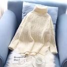 白色高領毛衣女寬鬆外穿秋冬慵懶加厚2019新款套頭短款打底針織衫
