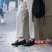樂福鞋 2019秋季新款方頭英倫風復古學生製服鞋單鞋女 3色35-39碼