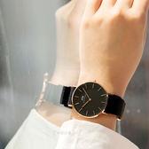 DW Daniel Wellington Classic 手錶 36mm 黑色 尼龍帶 金框 DW00100150