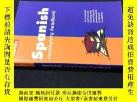 二手書博民逛書店Spanish罕見vocabulary handbookY258