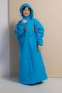 藏衫罩背背兒童背包太空連身式風雨衣...