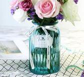 小清新富貴竹花瓶文藝玻璃透明北歐玫瑰百合花瓶擺件客廳插花    琉璃美衣