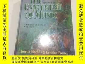 二手書博民逛書店THE罕見ENJOYMENT OF MUSICY3950 Jos