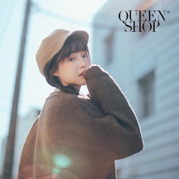 Queen Shop【07020565】短帽沿毛線造型帽 兩色售*現+預*