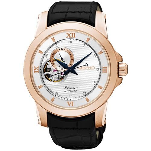 SEIKO 精工錶 Premier 羅馬時尚 藍寶石鏡面 機械錶 SSA326J1 熱賣中!