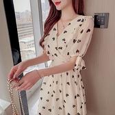 裙子洋裝實拍法式網紅連衣裙夏氣質夏季雪紡修身減齡裙子NE34.8026.胖胖唯依