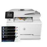 【搭206A原廠碳粉匣一黑三彩】HP Color LaserJet Pro MFP M283fdw 無線雙面彩色雷射傳真複合機