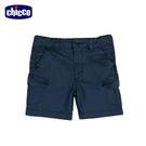 chicco-椰林-素色梭織五分褲-藍