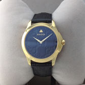 GUCCI G-TIMELESS獨特時尚皮帶咖啡色YA1264035腕錶38mm