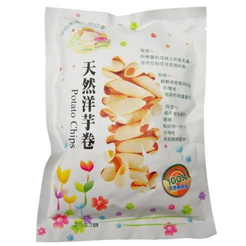 天然洋芋卷(純素)50g【德芳保健藥妝】