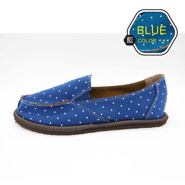 [ALMANDO-SHOES] 藍精靈點點帆布鞋/ 超輕量鞋/女休閒鞋