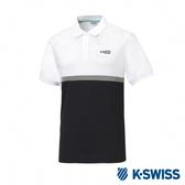 K-SWISS Polo韓版短袖Polo衫-男-白