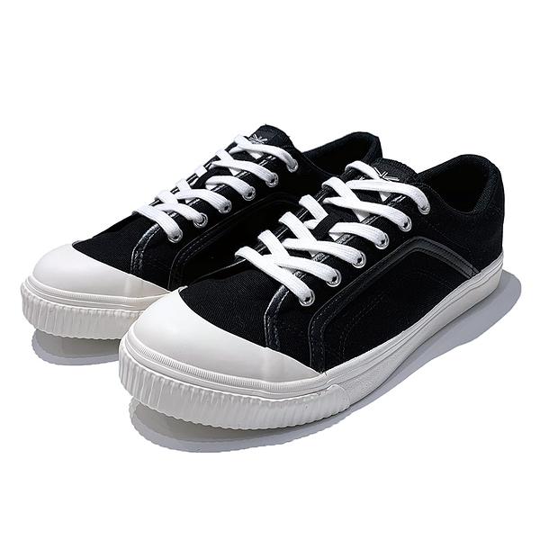 KANGOL 男款休閒鞋帆布鞋白底 6021200220 黑