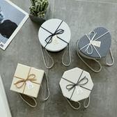 圓形禮物盒心形情人節小禮盒包裝盒創意韓版禮品盒糖果盒子伴手禮【卡米優品】