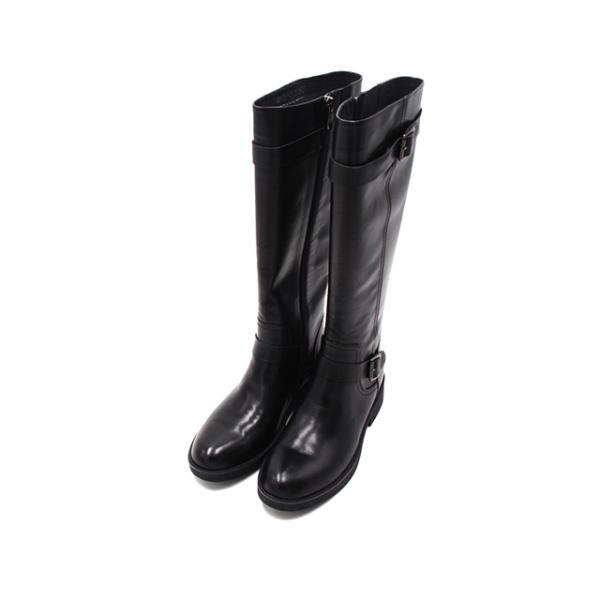 【南紡購物中心】WALKING ZONE (女)經典側釦 及膝長靴 長筒靴 女鞋-黑