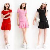 短袖短裙運動套裝女夏天時尚修身網球裙褲裙網球服休閒兩件套女裝 雙12狂歡購