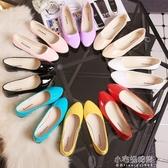 豆豆鞋女平底單鞋淺口平跟休閒鞋防滑懶人鞋大碼女鞋『小宅妮時尚』