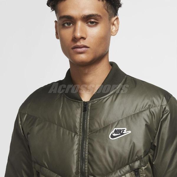Nike 外套 NSW Down Fill Winter Jacket 綠 男款 保暖 羽絨外套 運動休閒 【ACS】CU4403-380