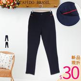 .HL超大尺碼.【18051041】保暖舒適內磨毛拉鍊式長褲 2色