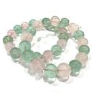 『晶鑽水晶』天然星光粉晶+綠螢石手鍊 約11-12mm 招桃花 人際關係 智能之石 創意思考 分析能力