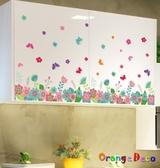 壁貼【橘果設計】百花齊開 DIY組合壁貼 牆貼 壁紙 室內設計 裝潢 無痕壁貼 佈置