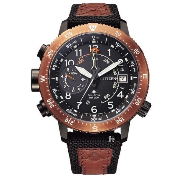 CITIZEN 星辰 光動能 登山 高度 方位手錶 BN4049-11E 限量咖/46mm