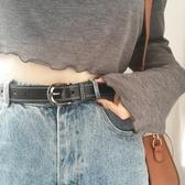 女士皮帶牛皮針扣簡約百搭韓國細裝飾韓版休閒真皮腰帶潮牛仔褲帶 居享優品