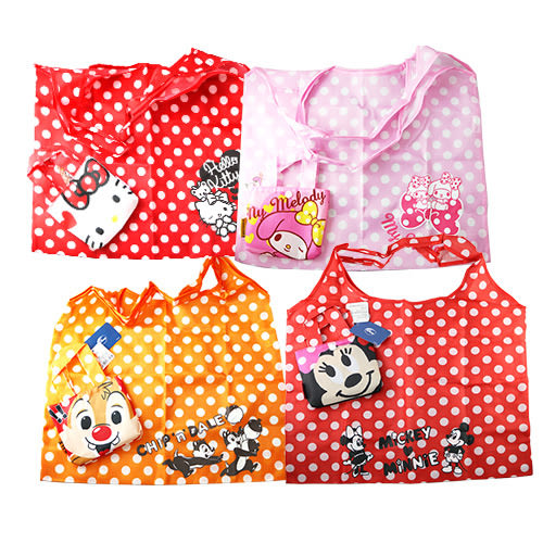 造型可折疊環保購物袋 1入 (美樂蒂/Hello Kitty/奇奇蒂蒂/米奇米妮)【BG Shop】4款供選