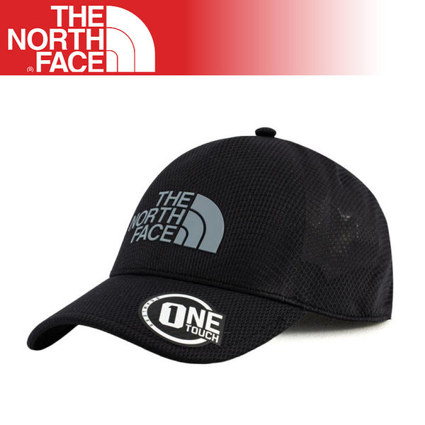 【The North Face One Touch 透氣棒球帽《黑》】3KBS/鴨舌帽/遮陽帽/運動帽/跑步登山