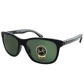 原廠公司貨-【Ray-Ban雷朋】4181F-901-超輕材質-玻璃鏡面(#黑框-綠鏡面)