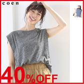 削肩 背心 女T恤 無袖上衣 約會 日本品牌【coen】