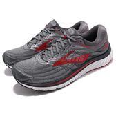 BROOKS 慢跑鞋 Glycerin 15 甘油系列 十五代 灰 紅 超級DNA動態避震科技 運動鞋 男鞋【PUMP306】 1102581D023
