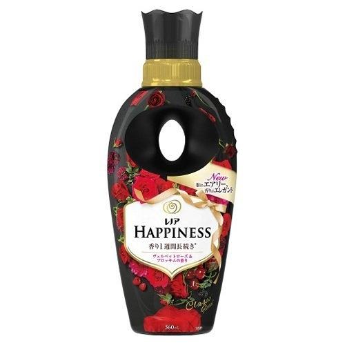 日本版【P&G】HAPPINESS長效芳香柔軟精560ml-絲絨玫瑰花香