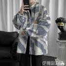 工裝外套 扎染立領拉鏈夾克男韓版2020春秋新款寬鬆學生休閒百搭工裝外套潮 伊蒂斯