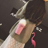 水桶包 女包新款創意冰淇淋女包迷你水桶菱格包LJ7876『miss洛羽』