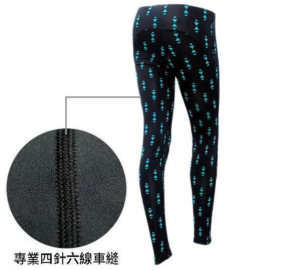 台灣製造 MOVIN 女款 黑 綠 黑藍三角型 3D緊身長褲 內搭褲 長束褲 慢跑 健身身