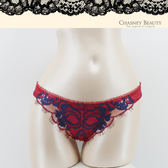 Chasney Beauty-鬱金香S-L蕾絲水晶丁褲(紅藍)