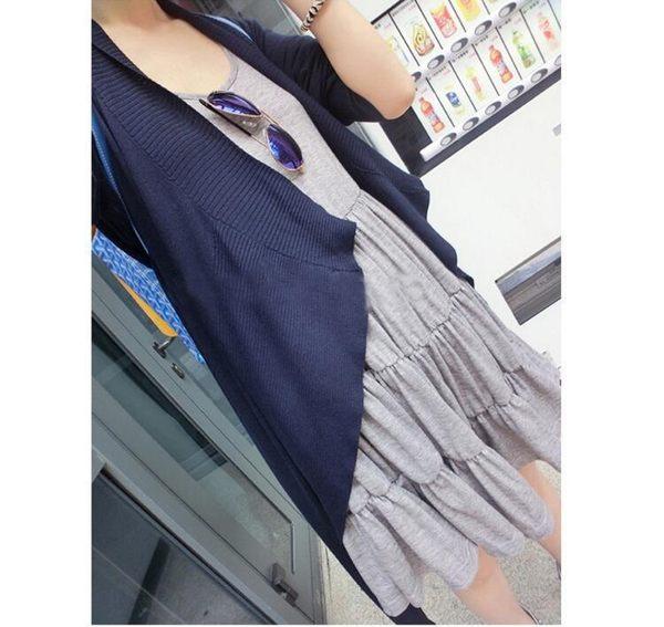 莫代爾吊帶連衣裙中長款大碼顯瘦蛋糕裙打底背心裙  +R吊帶蛋糕裙   &小咪的店&