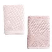 HOLA HOLA 葡萄牙純棉毛巾+浴巾 流動粉